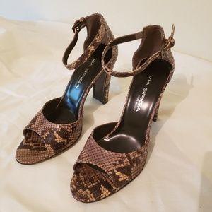 Via Spiga snakeskin heels
